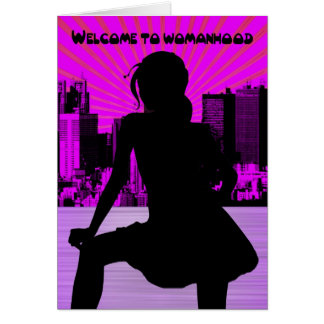Cartão Primeiro período, ø período, Womanhood