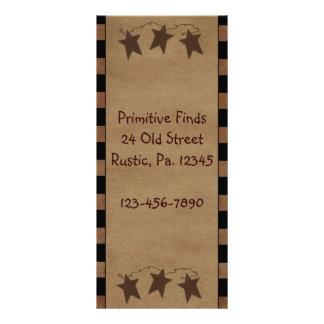 Cartão primitivo da cremalheira das estrelas 10.16 x 22.86cm panfleto