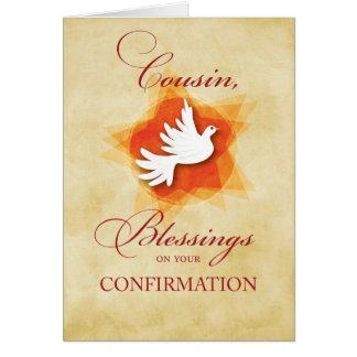 Cartão Primo, parabéns Blessin da confirmação