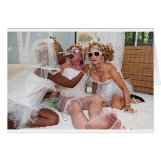 Cartão Primping para o casamento de Muriels