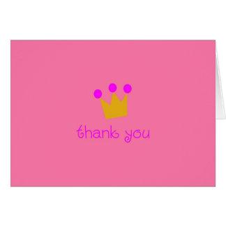 Cartão Princesa Agradecimento Você Nota