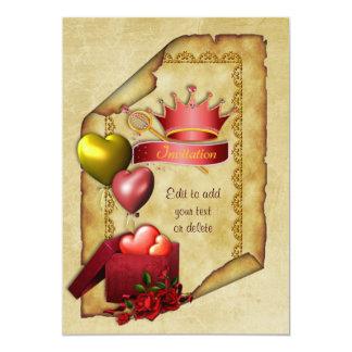 Cartão Princesa Aniversário Pergaminho