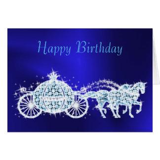 Cartão Princesa chamativo Azul Treinamento & aniversário