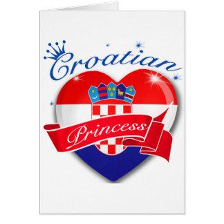 Cartão Princesa croata