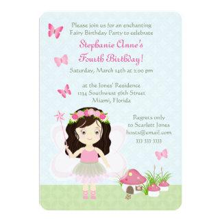 Cartão Princesa da fada da floresta