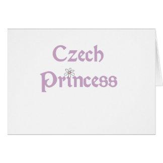 Cartão Princesa de Checo das margaridas