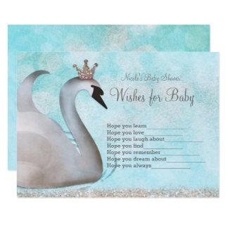 Cartão Princesa Desejo da cisne para o jogo do chá de