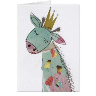 Cartão Princesa do girafa