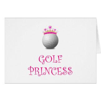 Cartão Princesa do golfe