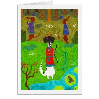 Cartão Princesa do sapo