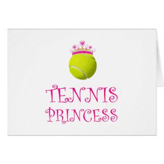 Cartão Princesa do tênis