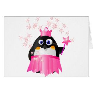 Cartão Princesa feericamente Pinguim