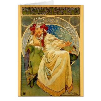 Cartão Princesa Jacinto por Mucha
