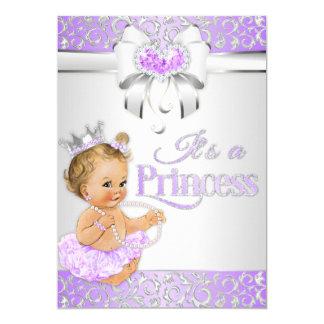 Cartão Princesa Lavanda Lilac & arco dos diamantes da