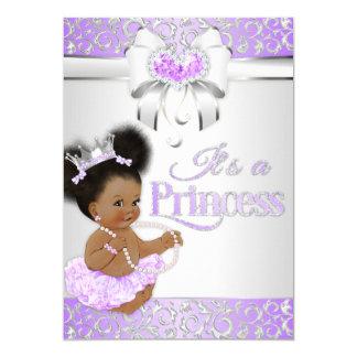 Cartão Princesa Lilac & afro-americano do diamante da