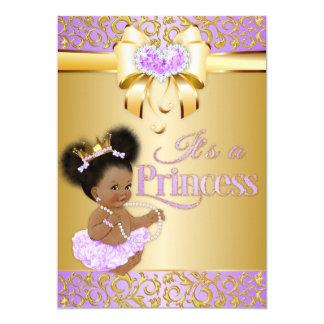 Cartão Princesa Lilac & afro-americano do diamante do