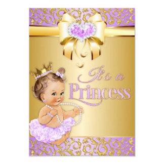 Cartão Princesa Lilac & bebê do vintage do coração dos