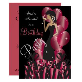 Cartão Princesa Menina da diva do aniversário ou da festa