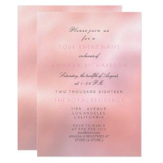 Cartão Princesa nupcial elegante do brilho mínimo do rosa