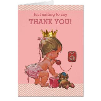 Cartão Princesa Ringing Dizer Agradecimento você chá de
