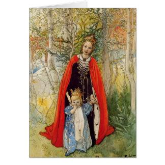 Cartão Princesa Salto Mãe e filha