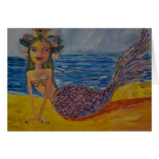 Cartão Princesa Sereia de India