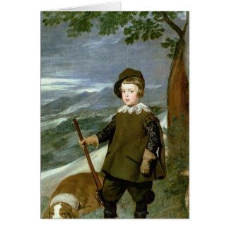 Cartão Príncipe Balthasar Carlos