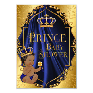 Cartão Príncipe Coroa do afro-americano dos azuis