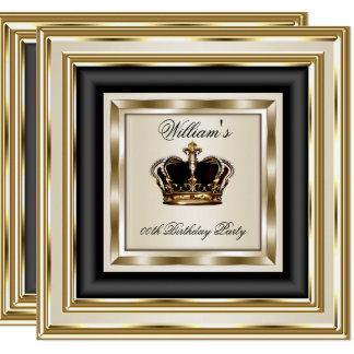Cartão Príncipe de creme rei Rainha 2 do aniversário da