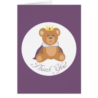 Cartão Príncipe do urso de ursinho (obrigado você!)