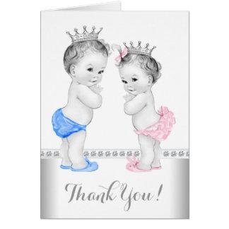 Cartão Príncipe e princesa Agradecimento Você
