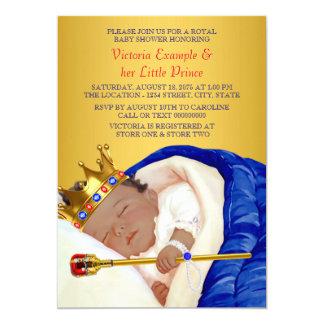 Cartão Príncipe real étnico chá de fraldas
