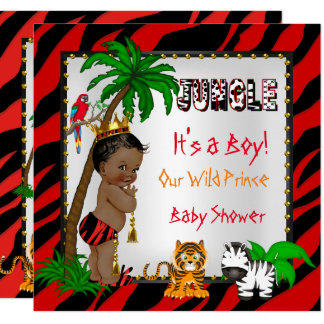 Cartão Príncipe selvagem Vermelho Étnico da selva do