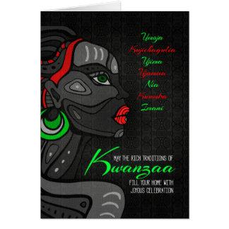 Cartão Princípios do afro-americano sete de Kwanzaa