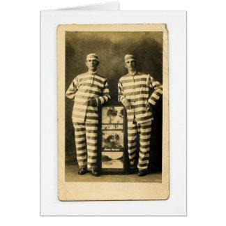 Cartão Prisioneiros do vintage