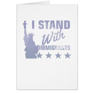 Cartão Pro camisa da estátua da liberdade da imigração