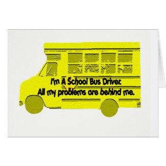 Cartão Problemas do condutor de autocarro atrás de mim