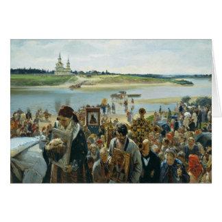 Cartão Procissão da páscoa por Prjanischnikow Illarion