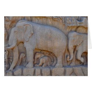 Cartão Procissão do elefante, India do sul
