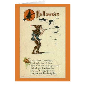 Cartão Procurarando pelo amor no Dia das Bruxas,