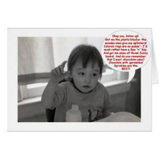 Cartão Procuras do aniversário