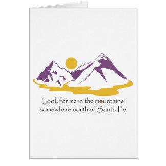 Cartão Procure-me nas montanhas