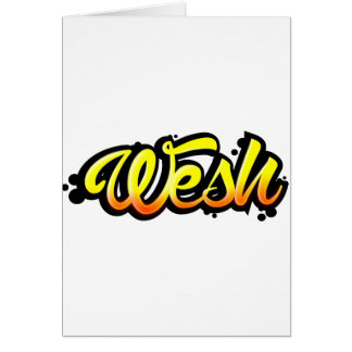 Cartão Produto graffiti wesh