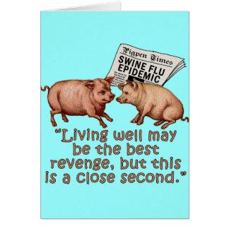 Cartão Produtos do humor da gripe dos suínos