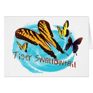 Cartão produtos do swallowtail do tigre