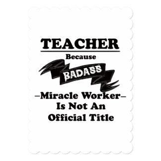 Cartão Professor de Badass