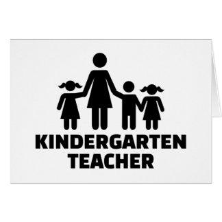 Cartão Professor de jardim de infância