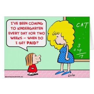 Cartão professor de jardim de infância pago