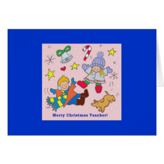 Cartão Professor do Feliz Natal
