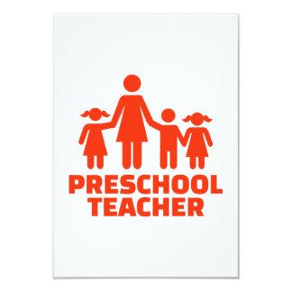 Cartão Professor pré-escolar